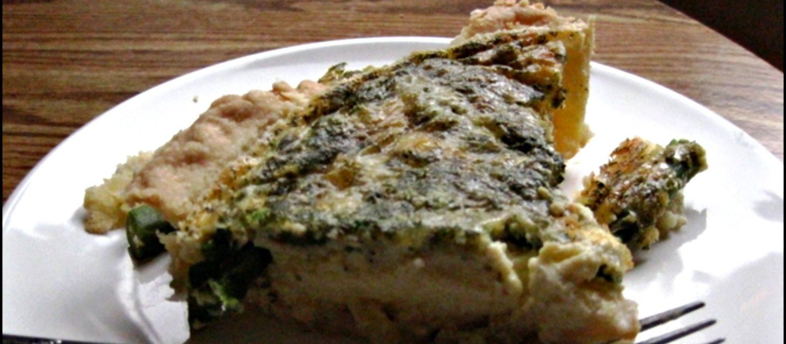 Asparagus and Parmesan Quiche