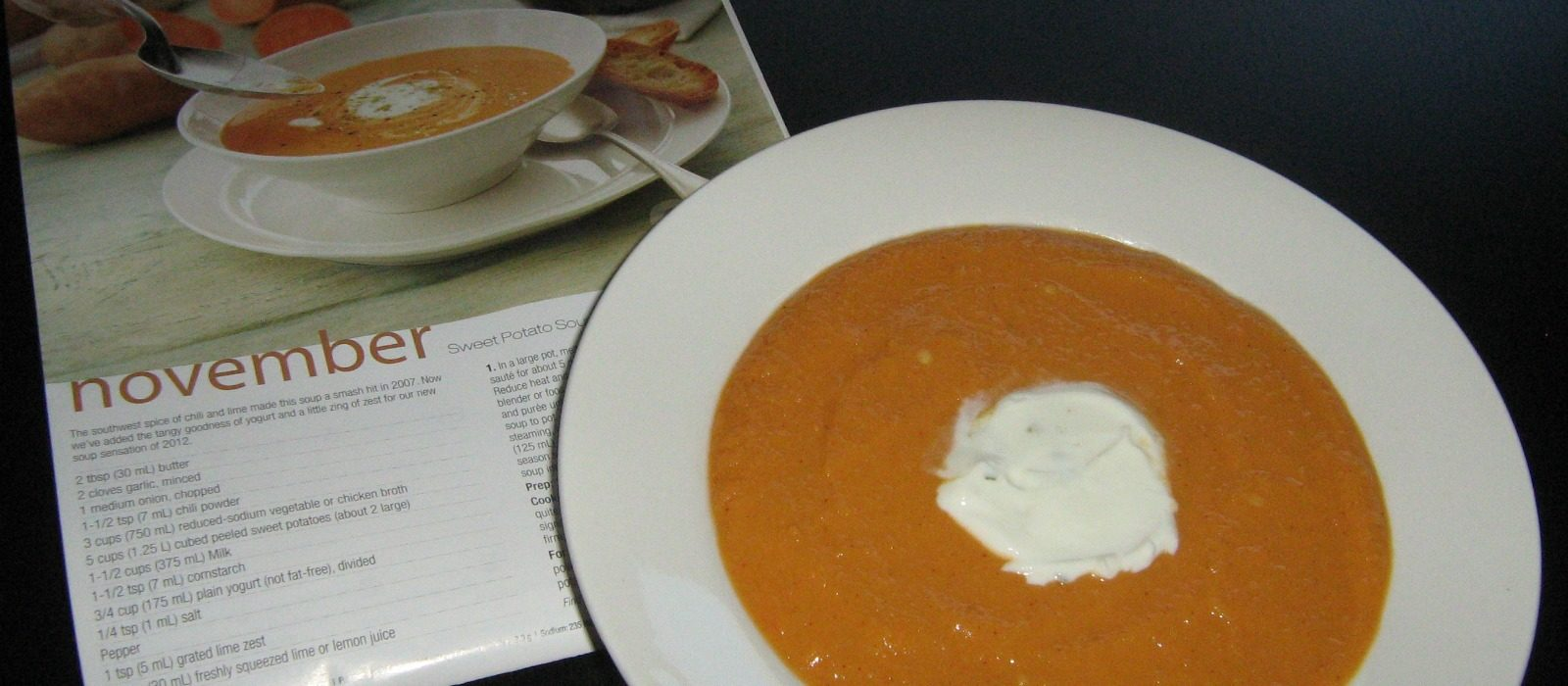 Sweet Potato Soup with Lime