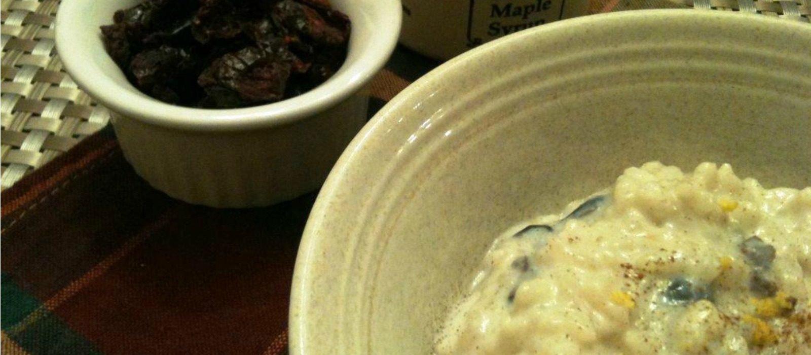 Cranberry Maple Lemon Rice Pudding