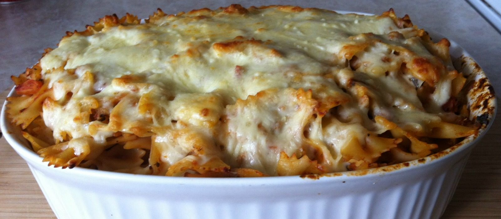 Turkey Tomato Pasta Bake