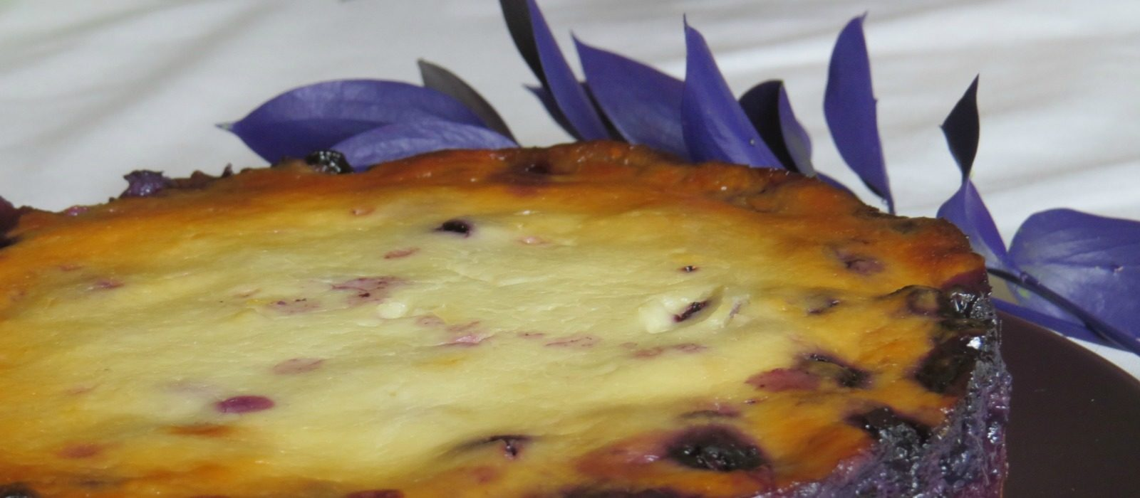 Blueberry Cream Flan