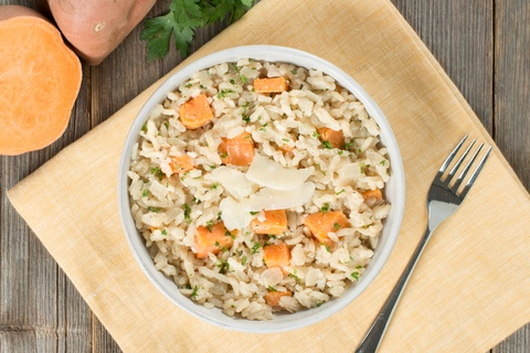 Oven Baked Sweet Potato Risotto