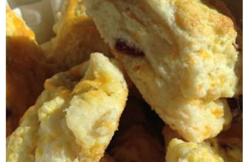 Cheddar Cheese and Cranberry Scones