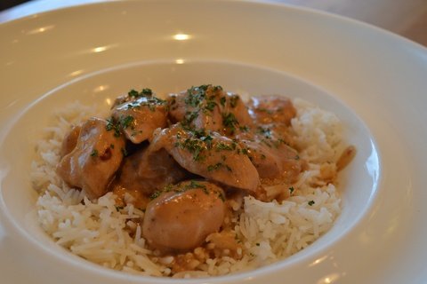 Chicken with Peanut Butter Sauce