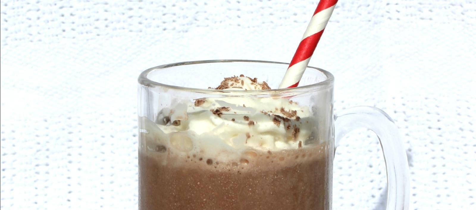 Healthier Frozen Hot Chocolate