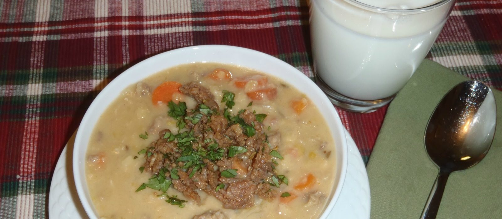 Creamy Lentil Soup with Spicy Italian Sausage and Toasted Fennel Seeds