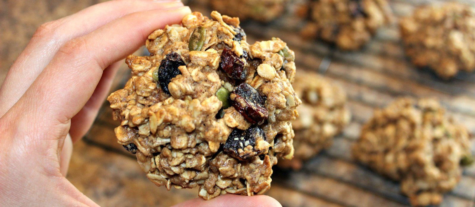 Oatmeal Cherry Breakfast Cookies
