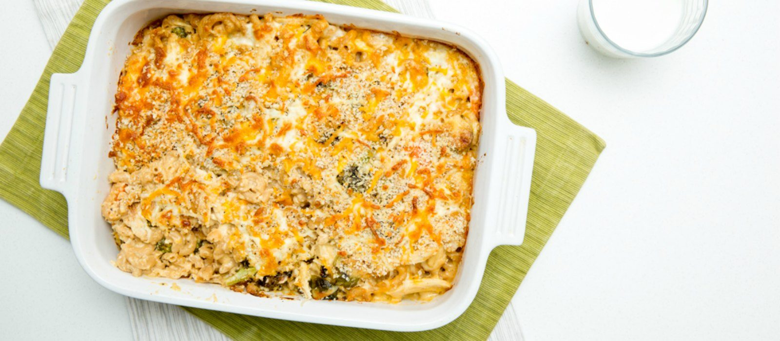 Leftover Turkey Mac & Cheese Casserole