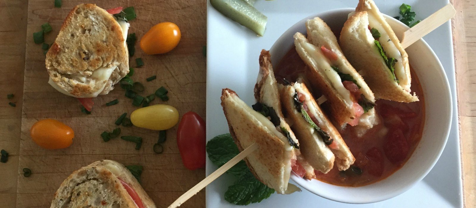 Weeknight Caprese Grilled Cheese
