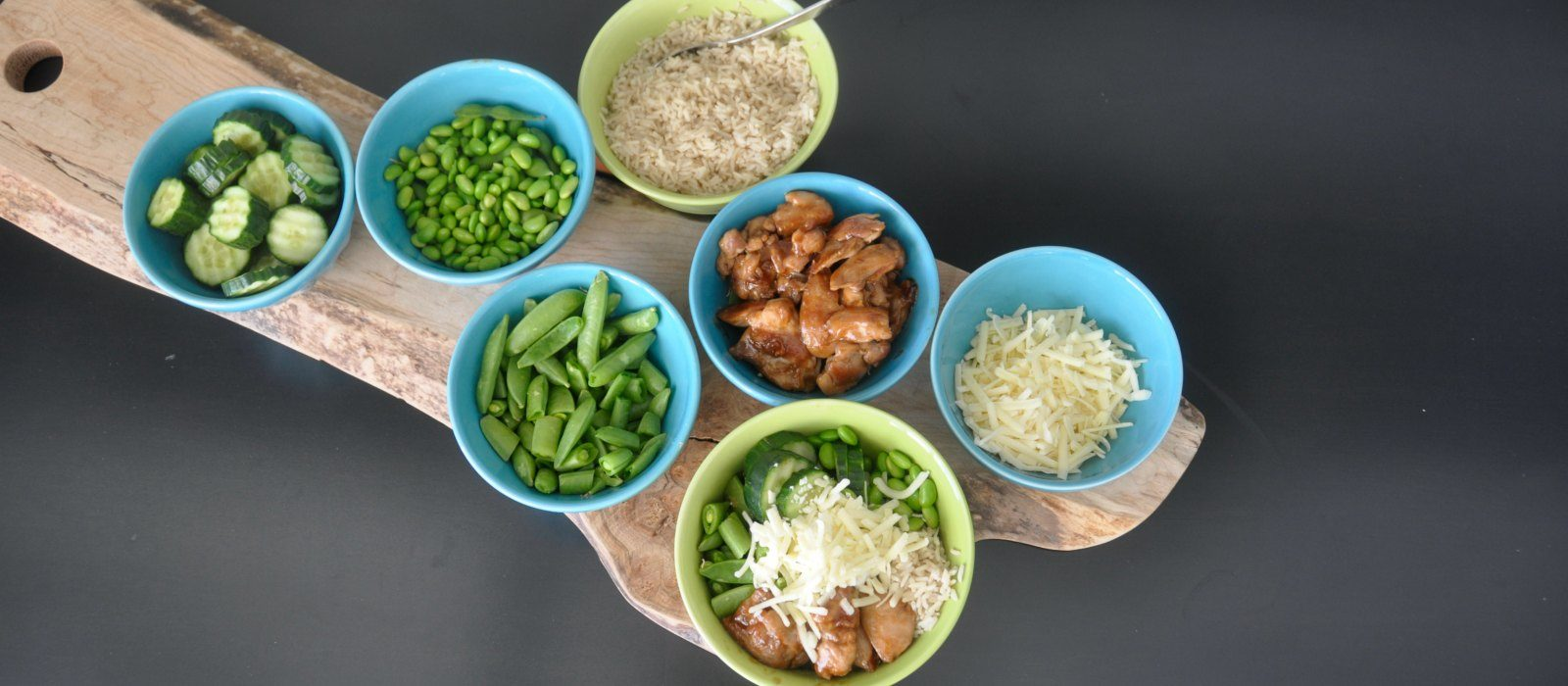 Sweet and Sour Chicken Rice Bowl Bar