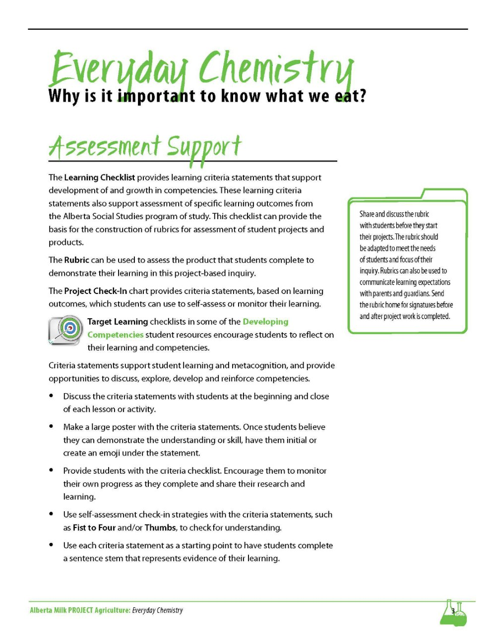 Everyday Chem Asssessment Support Preview | Alberta Milk
