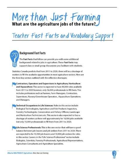 More than Just Farming | Alberta Milk
