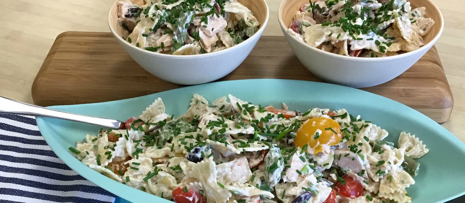 Spring Farfalle Nicoise Pasta Salad